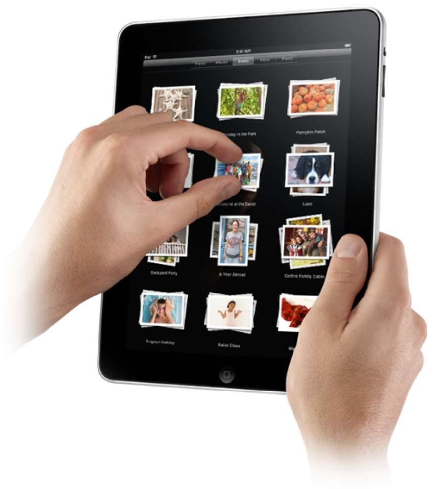 iPad w hands